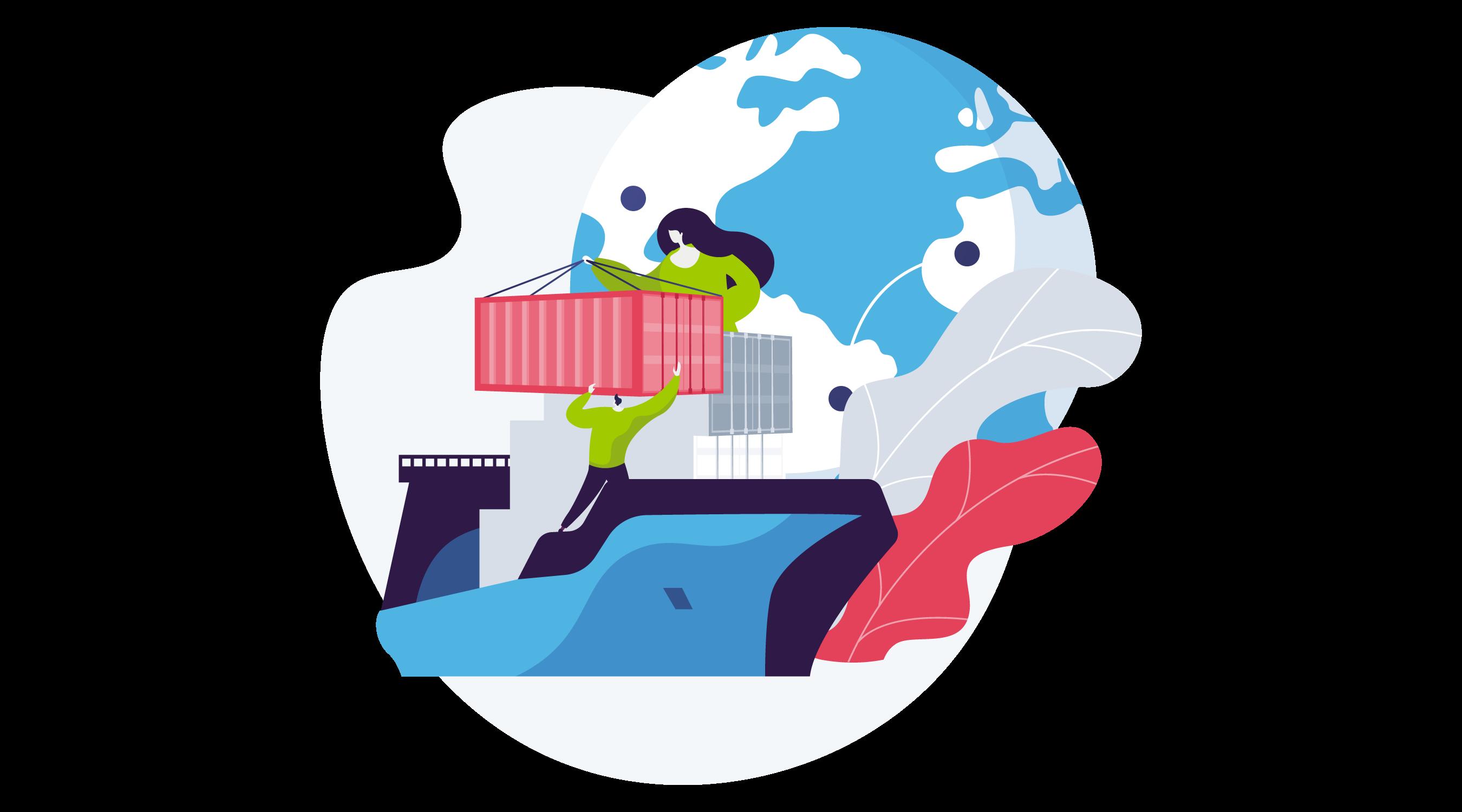 Aplikacja do zarządzania transportem kontenerów do liniowców